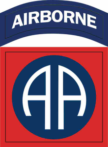 Army 82nd Airborne Patch Vinyl Transfer Decal