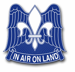 "Army 82nd Airborne Unit Crest 11.75"" Vinyl Transfer Decal"