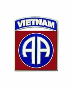Army 82nd Airborne Vietnam Military Lapel Pin