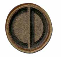 Army 85th Infantry Division Subdued Military Patch