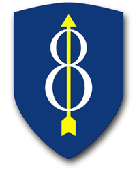 """Army 8th Infantry 10"""" Patch Vinyl Transfer Decal"""