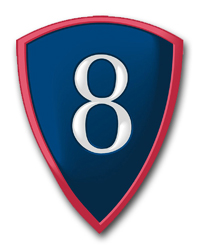 """Army 8th Personnel Command 5.5"""" Patch Vinyl Transfer Decal"""