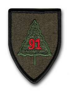 Army 91st Division Military Patch