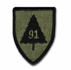 Army 91st Division Subdued Military Patch