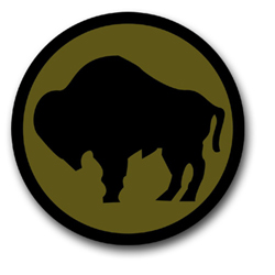 "Army 92nd Infantry 10"" Patch Vinyl Transfer Decal"