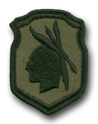 Army 98th Infantry Division Subdued Military Patch