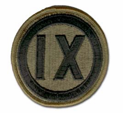 Army 9th Corps Subdued Military Patch
