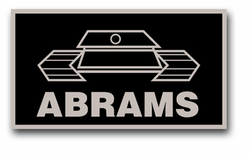 "Army Abrams 3.8"" Patch Vinyl Transfer Decal"