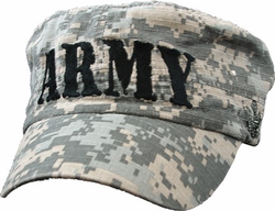 Army ACU Flat Top Low-Profile Embroidered Ball Cap Hat