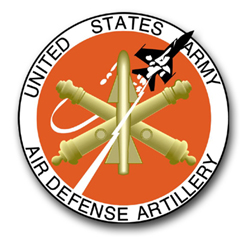 "Army Air Defense Artillery Seal 3.8"" Vinyl Transfer Decal"
