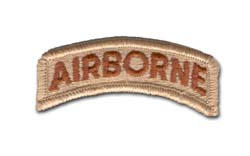 Army Airborne (Brown on Beige-Desert Camo) Military Tab
