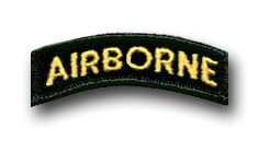 Army Airborne (Gold On Black) Military Tab