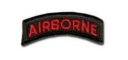 Army Airborne (Red on Black) Military Tab