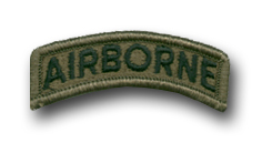 Army Airborne Subdued Military Tab