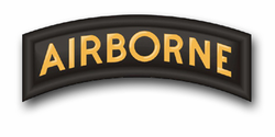 "Army Airborne Tab 3.8"" Patch Vinyl Transfer Decal"