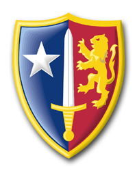 Army Allied Command Europe Patch Vinyl Transfer Decal