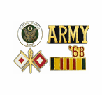 Army and Patriotic Lapel Pins