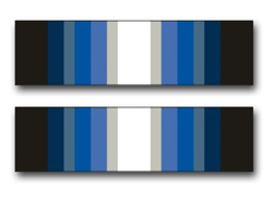 "Army Antarctica Service Ribbon 3.8"" Vinyl Transfer Decal"