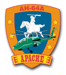 "Army Apache AH-64A 11.75"" Patch Vinyl Transfer Decal"