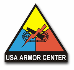 "Army Armor Center Crest 8"" Vinyl Transfer Decal"