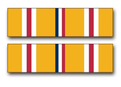 """Army Asiatic - Pacific Campaign Ribbon 5.5"""" Vinyl Transfer Decal"""