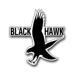 "Army Black Hawk 8"" Patch Vinyl Transfer Decal"