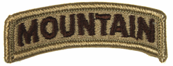 Army Blue Mountain Tab 2-3/8 Inch Patch