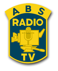 """Army Broadcasting Service Unit Crest 8"""" Vinyl Transfer Decal"""