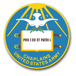 """Army Chaplains Insignia  3.8"""" Vinyl Transfer Decal"""