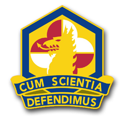 "Army Chemical and Biological Defense Command Unit Crest 3.8"" Vinyl Transfer Decal"