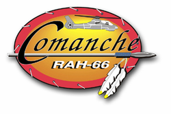 Army  Comanche RAH-66 Patch Vinyl Transfer Decal