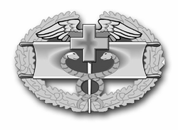 "Army Combat Field Medical Award  11.75"" Vinyl Transfer Decal"
