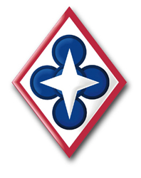 """Army Combined Arms Support Command 3.8"""" Patch Vinyl Transfer Decal"""