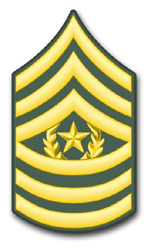 "Army Command Sergeant Major 8"" Rank Vinyl Transfer Decal"