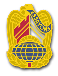 "Army Corps of Engineers Command Unit Crest  (left) 5.5"" Vinyl Transfer Decal"