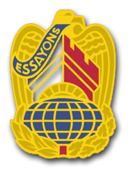 "Army Corps of Engineers Command Unit Crest (right) 3.8"" Vinyl Transfer Decal"