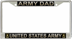 Army Dad License Plate Frame