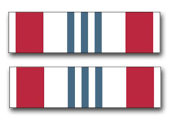 "Army Defense Meritorious Service Ribbon 5.5"" Vinyl Transfer Decal"