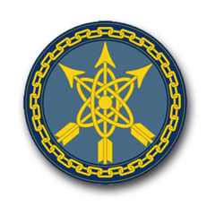 """Army Defense Special Weapons Agency Unit Crest 10"""" Vinyl Transfer Decal"""