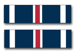 "Army Distinguished Flying Cross Ribbon 3.8"" Vinyl Transfer Decal"