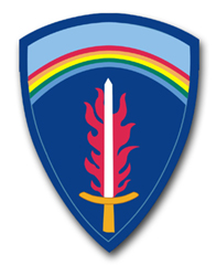 """Army Europe Command 3.8"""" Patch Vinyl Transfer Decal"""