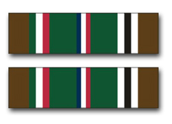 "Army European - African - Middle Eastern Campaign Ribbon 11.75"" Vinyl Transfer Decal"