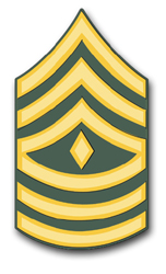 "Army First Sergeant 10"" Rank Vinyl Transfer Decal"