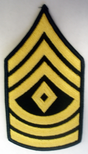 Army First Sergeant Chevron Patch (Pair)