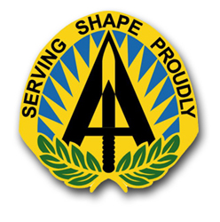 "Army Head Quarter Allied Powers Europe Unit Crest 8"" Vinyl Transfer Decal"
