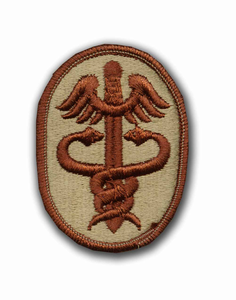 Army Health Services Command Desert Military Patch
