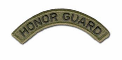 Army Honor Guard (Black on Olive) Military Tab
