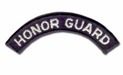Army Honor Guard (White on Navy) Military Tab
