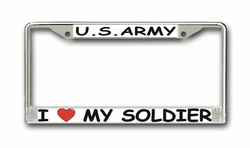 "Army "" I Love My Soldier"" License Plate Frame"