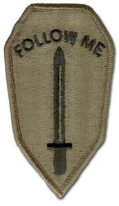 Army Infantry School Subdued Military Patch
